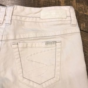 Seven Denim White Jean Shorts